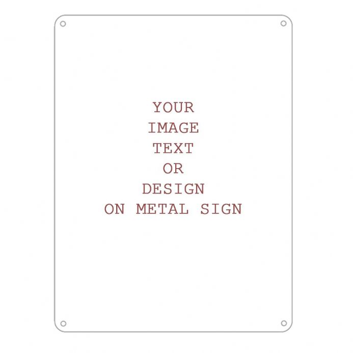 Personalised Any Design , Any Image, Any Text  - Metal Personalised Art Wall Sign - Retro Art